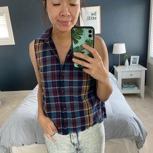 Madewell Sleeveless Button Down Shirt